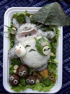 Totoro Kyaraben or Charaben bento (character bento)