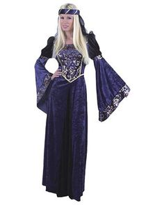 Ladies Navy/black Renaissance Costume - Womens Renaissance Halloween Costumes