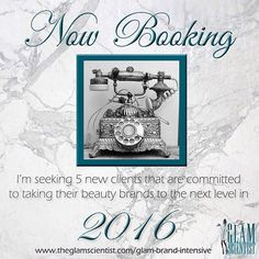 New Year New Rules  I've always been very selective with the projects I take on. This year I'm taking it up a notch. In 2016 I will no longer extend formulation services to startup brands unless they have first completed Glam Brand Academy or a Glam Brand Intensive.  I can develop the most fabulous products for you but you won't see success unless your business foundation is solid. I do what I do because I truly have a desire to see women achieve their dreams. Formulation is the most…