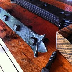 Timber plates with forged hardware. #timberframe #blacksmith
