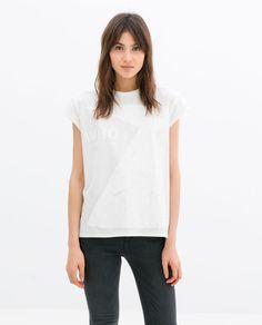 ZARA - 여성 - 라운드넥 티셔츠