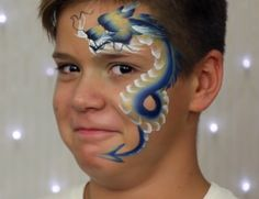 This is the Blue Dragon Dragon Face Painting, Make Up Art, Blue Dragon, Paints, Folk Art, Carnival, Faces, Beautiful, Projects