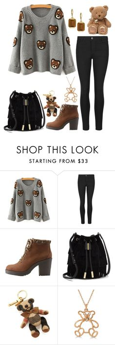"""""""Cozy Teddy Bear"""" by panda-matowi0715 ❤ liked on Polyvore featuring Charlotte Russe, Vince Camuto, Burberry, Allurez and Gund"""
