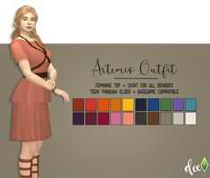 """deetron-sims: """" A kickbutt outfit for Io from @teanmoon's amazing Ariadne Challenge. I was looking for inspiration and Tea gave me some. She's my precious cinnamon roll and she deserves all the best things. It comes in her Cradle of Civilization..."""