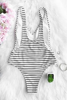 Buy Spring Summer 2018 Swimwear Trends Women's Black Stripe Plunging Deep V-neck Padded One Piece Swimwear Bathing Suit on Sale by PesciModa. Shop one piece swimsuit cheap, womens one piece swimsuits, one piece swimsuits for juniors Cheap Swimsuits, Women's One Piece Swimsuits, Plunging One Piece Swimsuit, Beach Wear, Beach Attire, Cute Bathing Suits, Summer Swimwear, Beachwear For Women, Summer Time