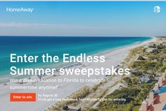 Enter the Endless Summer sweepstakes for a chance to win a dream vacation to Florida to celebrate summertime anytime! Deadline to enter is August 30, 2015.