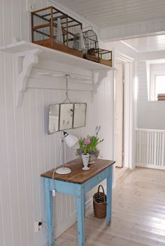 Love the clean look of bead-board, tongue and groove all painted white and gleaming and clean.