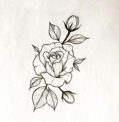 Tattoo Designs - Ideas And Inspirations- Tattoo Designs- Ideas And Inspirati . - Tattoo Designs – Ideas And Inspirations- Tattoo Designs- Ideas And Inspirations flower tattoo des - Rose Tattoos, Flower Tattoos, Body Art Tattoos, New Tattoos, Sleeve Tattoos, Stencils Tatuagem, Tattoo Stencils, Kritzelei Tattoo, Tattoo Drawings