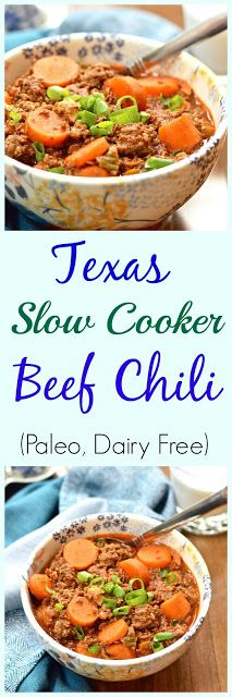 Pure and Simple Nourishment : Texas Slow Cooker Beef Chili from Down South Paleo