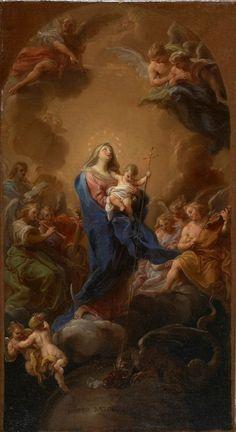 The Athenaeum - Madonna and Child in Glory (Pompeo Batoni - )