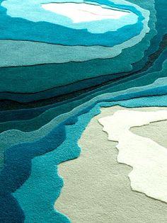 Edward Fields topographic map rug cockatoo | sodalite blue | margerita