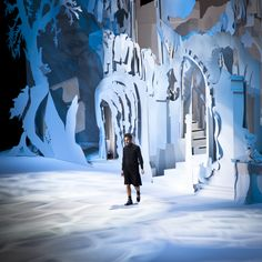 Marc on the FW12 Runway, designed by Rachel Feinstein