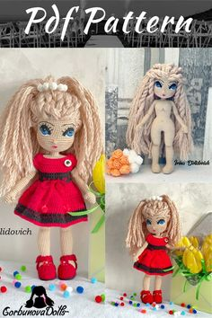 Easy-to-follow amigurumi tutorial, consisting of 34 PDF pages. Crochet Doll Pattern, Crochet Toys Patterns, Amigurumi Patterns, Stuffed Toys Patterns, Amigurumi Tutorial, Knitting Patterns, Handmade Dolls Patterns, Handmade Toys, Doll Patterns