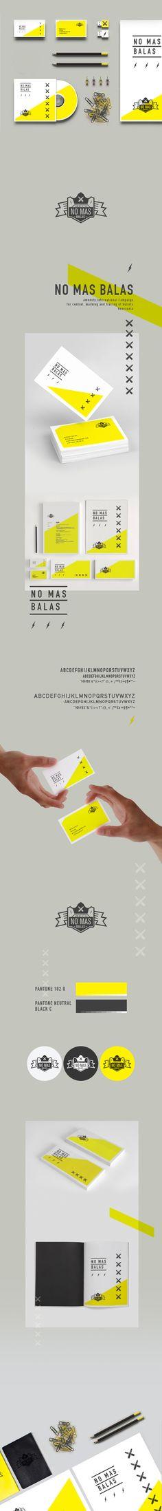Unique Branding Design, No Mas Balas #Branding #Design (http://www.pinterest.com/aldenchong/)