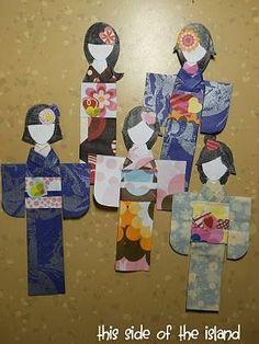 How to make Japanese Paper Dolls DIY Paper Dolls DIY Crafts