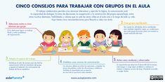 Cinco consejos para trabajar con grupos en el aula