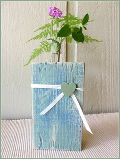 Rustic Test tube vase Wedding Decor by WireHearts on Etsy. $8.00 USD, via Etsy. Jar Crafts, Wood Crafts, Wood Projects, Craft Projects, Bottles And Jars, Dried Flowers, Planter Pots, Wedding Decorations, Creations