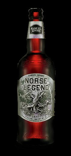 Norse Legend Sam Adams- Deep amber in color, the distinctive herbal citrus aroma and flavor comes from aging on a bed of juniper berries for a fresh and flavorful brew. - Not usually a Sam Adams fan, but may be worth it.