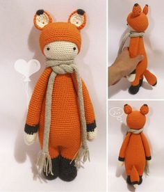 fox / Songbird studio; #knit #knitting #doll #cotton #toys #crochet #yarn #fox #red #handembroidery #embroidery #amigurumi #crochetdoll #handmade #lalylala #baby #craft #white #songbirdstudio