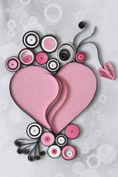 Quilling Ideas, Quilling Cards, Quilling Designs, Paper Quilling, Krishna Art, Pretty Cards, Card Making, Greeting Cards, Hearts