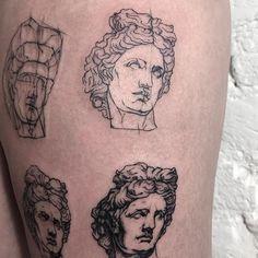 Beautiful Apollon #sashatattooing #linework #sketch #tattoo #Apollon