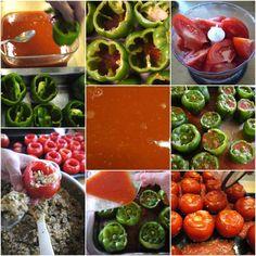 καθαρόαιμα γεμιστά πολίτικα - η συνταγή   Pandespani Vegetables, Food, Essen, Vegetable Recipes, Meals, Yemek, Veggies, Eten
