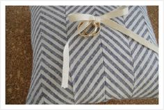 DIY chevron ring pillow
