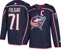 68859b1f8c7 adidas Men's Columbus Blue Jackets Nick Foligno #71 Authentic Pro Home  Jersey