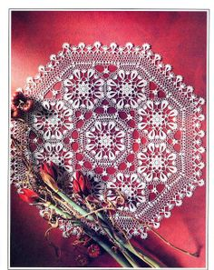 Ivelise Feito à Mão: Centrio Decorativo Lindo Em Crochê