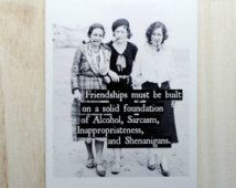 friendships must be built on a solid foundation of sarcasm inappropriateness and shenanigans - Google Search