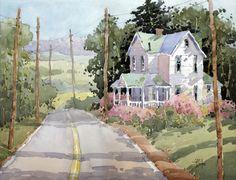 Laurel Mountain Highlands Farm by J Hicks Fine Art