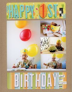 How I Scrapbook Birthdays | Crafts and Creative Living