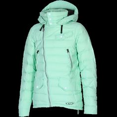 Volcom Strategy Puff Jacket in Sage | Volcom Womens Snowboard Jackets | SolsticeSupply.com | Board Shop