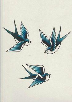 Tattoo Bird Swallow Blue Trendy Ideas Tattoo Vogel Schwalbe Blau Trendige Ideen Category: unique tattoos This image. Swallow Tattoo Design, Swallow Bird Tattoos, Simple Bird Tattoo, Bird Tattoo Wrist, Simple Bird Drawing, Branch Tattoo, Retro Tattoos, Trendy Tattoos, Cage Tattoos