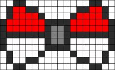 Pokeball Bow perler bead pattern