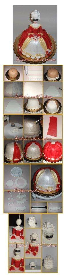 Doll tutorial using all fondant and no barbie