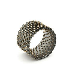 Ralph Bakker: ring 2001 'Scales' gold, silver Galerie Rob Koudijs - Room for New Jewellery