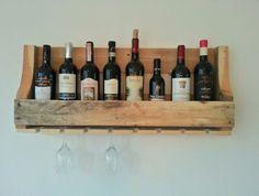 Wijnrek voor 8 flessen en 7 glazen