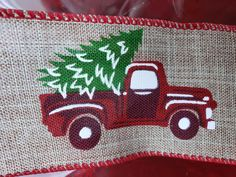 Red truck christmas ribbon; red truck christmas tree theme; red truck christmas decor ideas; rustic christmas decor; diy christmas decorations; christmas tree ribbon decorating ideas; country christmas wedding; country christmas decorations; country christmas farmhouse; vintage red truck christmas; diy ribbon crafts; christmas crafts #christmas #redtruckribbon
