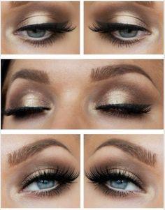 Beautiful gold eyeshadow and amazing brows. Lush!! X