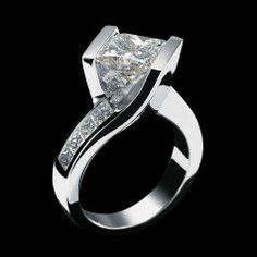Intrigue Engagement Ring - Princess Cut