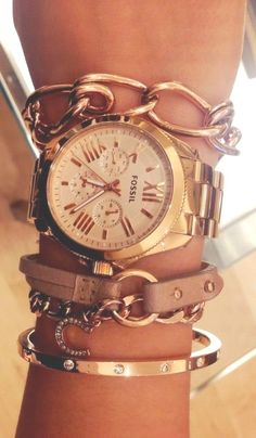 Stack it up! #Fossil For latest Women's Fashion needs kindly visit us @ zoeslifestylefashion.com