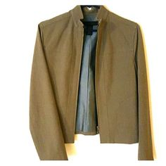 The Limited taupe jacket Zipper closure, fully lined, with good weight. Bust is 36 in, length is 21, shoulders are 31. The Limited Jackets & Coats Blazers