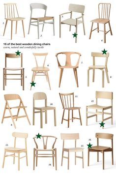16 of the best simple wooden dining chairs. chair dining 16 of the best simple wooden dining chairs - cate st hill Wooden Dining Table Designs, Wooden Dining Chairs, Painted Chairs, Metal Chairs, Outdoor Chairs, Simple Dining Table, Scandinavian Dining Chairs, Tire Chairs, Chair Design Wooden