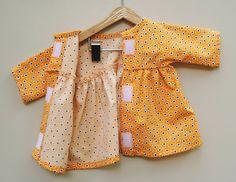 Orange Waldorf Puppe Kleid von WildMarigold auf Etsy