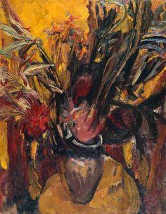 David Bomberg, like the brush work