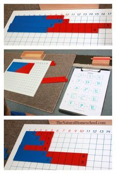 Montessori Math: Addition Lessons using Small Number Rods & Addition Strip Board {Free Printables}