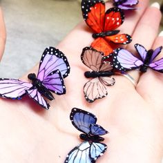 Acrylic butterflies
