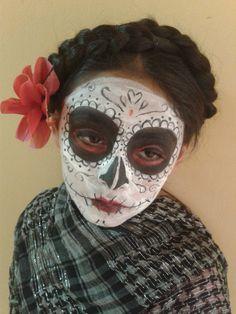maquillaje halloween la catrina niña
