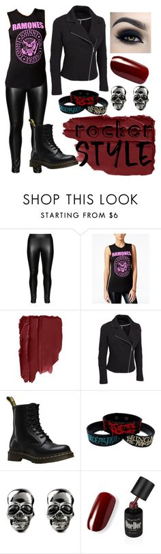"""PlusSize Rocker Style"" by nicole-franklin-hentscher ❤ liked on Polyvore featuring Studio, NTD, Dr. Martens, rockerchic, rockerstyle and plus size clothing"